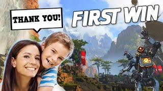 Download Helping a Cute Kid & his Mom get there First Win in Apex Legends! Video