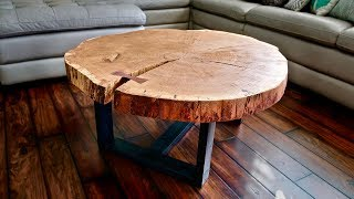 Download Live Edge Coffee Table, How To Flatten A Live Edge Slab - Woodworking Video