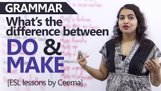 Download 'Do' vs 'Make' - Learn the difference between these verbs - English Grammar Lessons Video