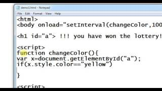 Download change the text color in every second using JavaScript Video