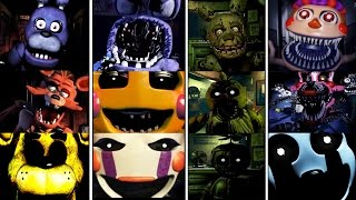 Download Todos los JUMPSCARES - FNAF 1-4 & Five Nights at Freddy's 4 Halloween Edition - Fnaf All Jumpscares Video