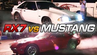 Download Turbo RX7 vs Nitrous Mustang Video