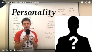 Download Vocabulary PERSONALITY (Lesson 3) Video