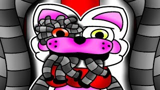 Mangle and Foxy jr Visits The Famous Films at the Fnaf 6 Pizza