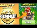 Download GOLD PASS GEM SPREE FOR THE VALK QUEEN! - Clash of Clans Video