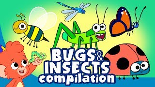 Download Learn Insects and Bugs for Kids | Cute Insect a to z Cartoon Compilation | Club Baboo Video