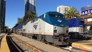 Download Amtrak California HD 60fps: Riding Pacific Surfliner Train 785 (San Diego to Los Angeles) 3/8/16 Video