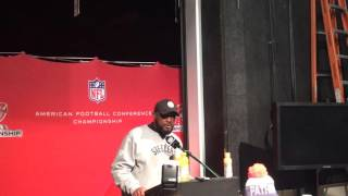 Download Mike Tomlin meets the media after the Pittsburgh Steelers lose in the AFC Championship Video
