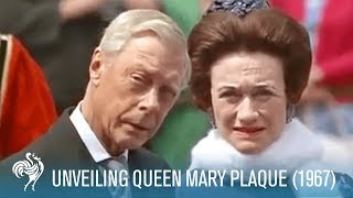 Download The Royal Family at the Queen Mary Plaque Unveiling in London (1967) | British Pathé Video