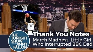 Download Thank You Notes: March Madness, Little Girl Who Interrupted BBC Dad Video