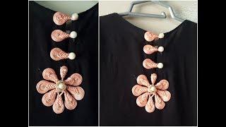 Download hand embroidery dori button neck design for hand neck design Video