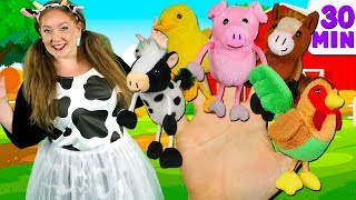 Download Farm Animals Finger Family and more Animals Songs | Finger Family Collection - Learn Animals Sounds Video