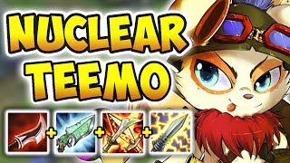 Download NUCLEAR ONE-SHOT TEEMO MID! THE MOST BROKEN ASSASSIN COMBO (PASSIVE + DUSKBLADE)! League of Legends Video