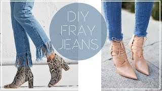 Download DIY FRAYED HEM JEANS | Style | Taylor Apolonio Video