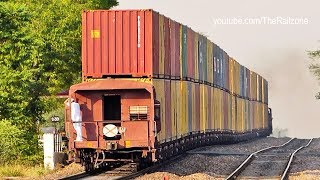 Download The DOUBLE Stack CONTAINER Train : Indian Railways Video