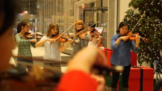 Download Flash Mob at the Bank of America Tower - CMC @ NY - Chamber Music at Its Best! Video