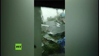 Download ″Recen por Puerto Rico″: Mujer aterrorizada graba la destrucción del huracán María Video