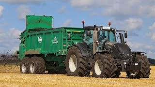 Download 2 brand new Valtra T234 Active & Tebbe spreading compost | Cintégro - Ens Video