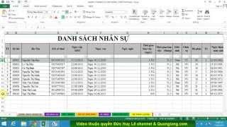 Download Cách tô màu xen kẽ giữa các dòng trong Excel Video