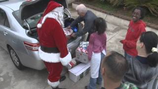Download Santa visits family with 19 adopted special needs children Video