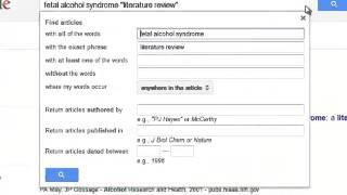 Download Finding Literature Reviews through Google Scholar Video