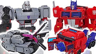 Download Transformers Cyberverse ultimate class Optimus Prime vs Megatron, dinosuars! - DuDuPopTOY Video