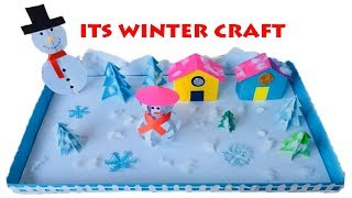 Download Winter Season 3D Model For School Project Ideas | Winter Season Paper Crafts for School Kids Video