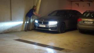 Download REAL LIFE USAGE Remote Parking NEW 5-series BMW 540i 5-series in TIGHT GARAGE Video