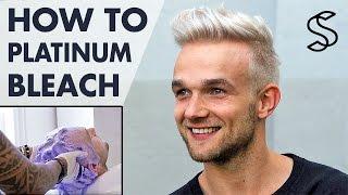Download Platinum blonde hair for men - how to bleach men's hair - Silver Fox hair Video