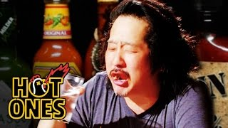 Download Bobby Lee Has an Accident Eating Spicy Wings | Hot Ones Video