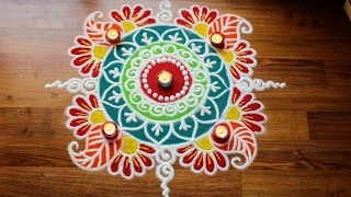 Download Free hand rangoli designs with colours Video