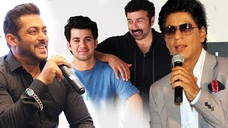Download Salman & Shahrukh WELCOMES Sunny Deol's Son Karan In Bollywood Video