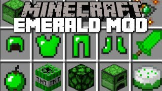 Download Minecraft EMERALD MOD / FIGHT THE EMERALD GOLEM AND SURVIVE!! Minecraft Video