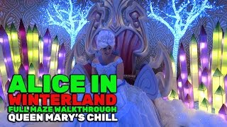 Download Alice in Winterland FULL holiday maze walkthrough at Queen Mary's Chill 2016 Video