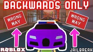 Download BACKWARDS ONLY CHALLENGE?? | Roblox Jailbreak Stupid Challenges Video
