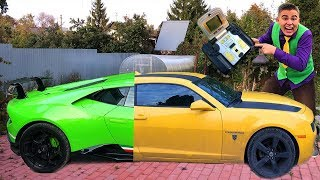 Download Yellow Man painted Headlights with Paint VS Mr. Joe on Lambo with Blue Headlights in Car Wash 13+ Video
