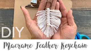 Download Macrame Feather Keychain DIY Video