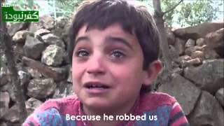 Download Syrian child cries as he speaks his heart! HD Video