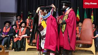 Download Dr Esther Mahlangu honoured with a doctorate Video