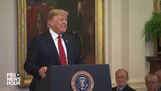 Download WATCH LIVE: President Trump presents Medal of Honor to retired Marine Corps Sgt. Maj. John Canley Video