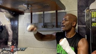 Download Hopkins vs. Smith Jr - Bernard Hopkins on the speed bag in final media workout Video