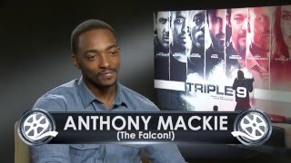 Download Who is Anthony Mackie's favourite Batman? - exclusive Triple 9 (2016) interview Video