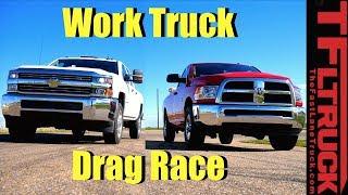 Download 2017 Ram 2500 vs 2017 Chevy 2500: Gas V8 Work Truck Drag Race Video