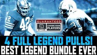 Download BEST LEGEND BUNDLE EVER! | 4 FULL LEGEND PULLS! | Madden 18 Ultimate Team Video