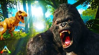 Download HikePlays: ARK Survival THE BIG HUNT! - Hunting The BIG GORILLA & ALPHA T-REX EP.19 w/ Stream Team Video