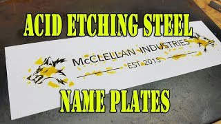 Download Acid etching a steel name boiler plate test #1 - Muriatic Acid Video