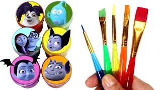 Download Vampirina Drawing & Painting with Surprise Toys Vee Wolfie Gregoria Demi Ghoul Girls Surprise Toys Video