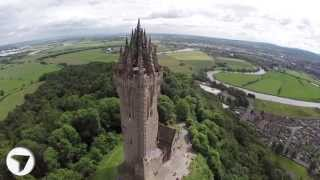 Download Wallace Monument, Stirling, Scotland ... Stunning Aerial View Video