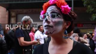 Download Mexico: Thousands parade through Mexico City on Day of the Dead Video