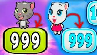 Download Говорящая Анджела и Говорящий Том прокачеваем котиков мультик про котят для детей #УШАСТИК KIDS Video